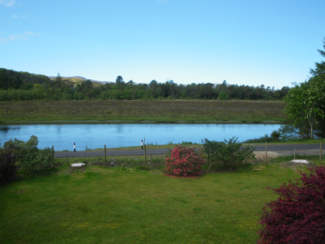 View from Kitchen at Rowanhill Self catering Loch Shiel Ardnamurchan Scotland